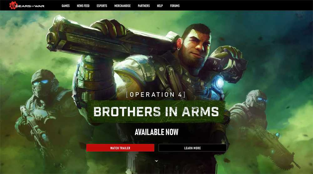Gears of War Homepage Screenshot