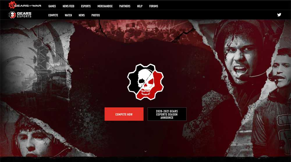 Gears Esports Homepage Screenshot