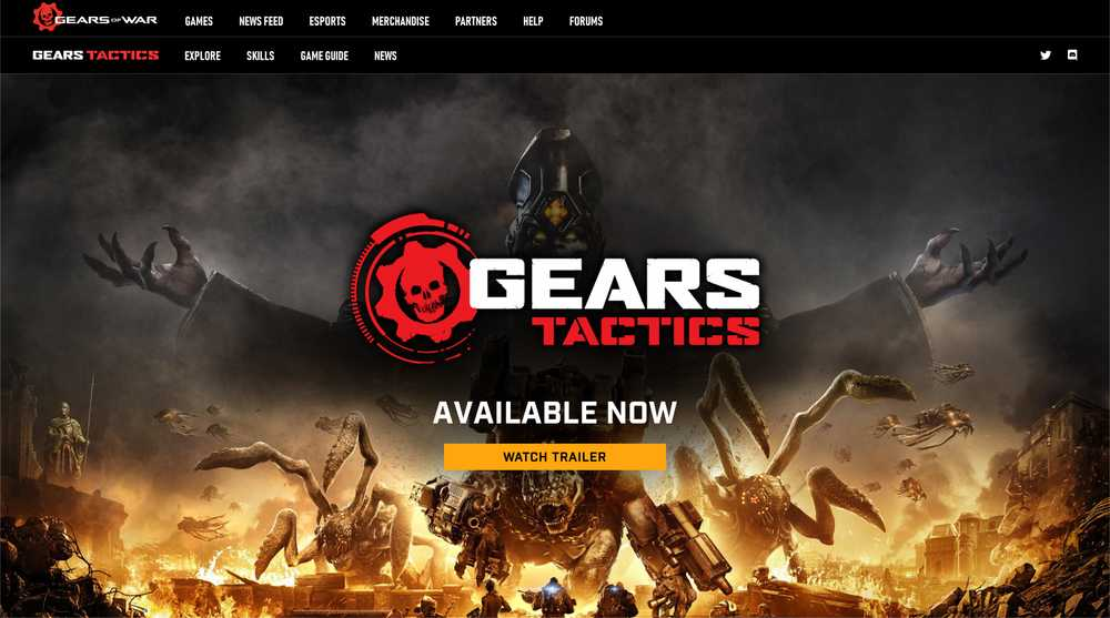 Gears Tactics Homepage Screenshot