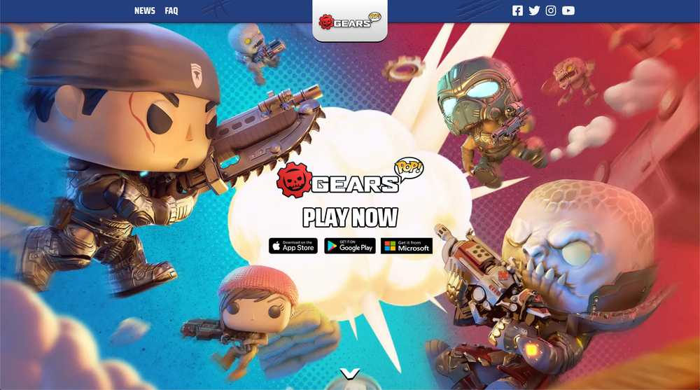 Gears POP! Homepage Screenshot