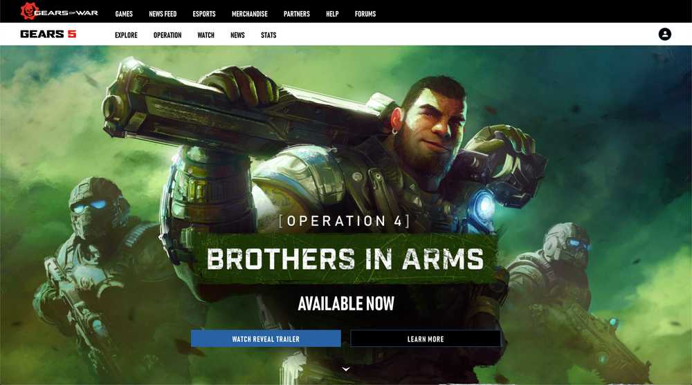 Gears 5 Homepage Screenshot